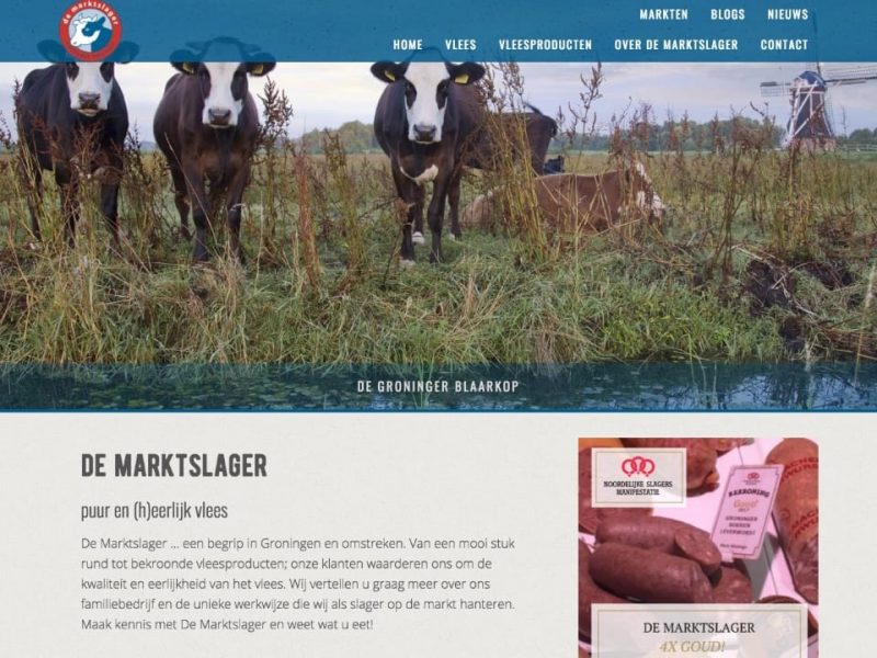 Website De Marktslager