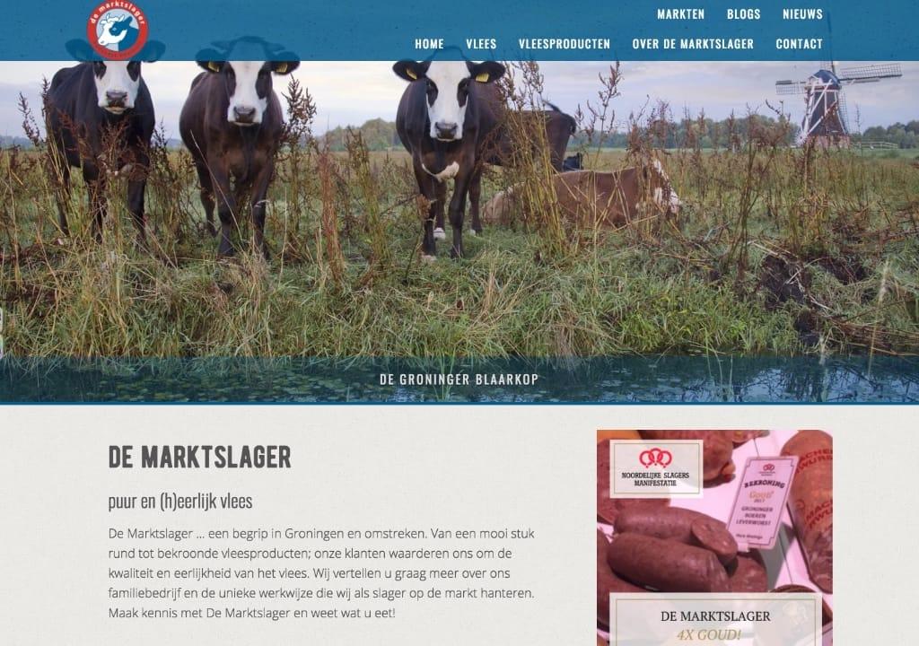 Website De Marktslager