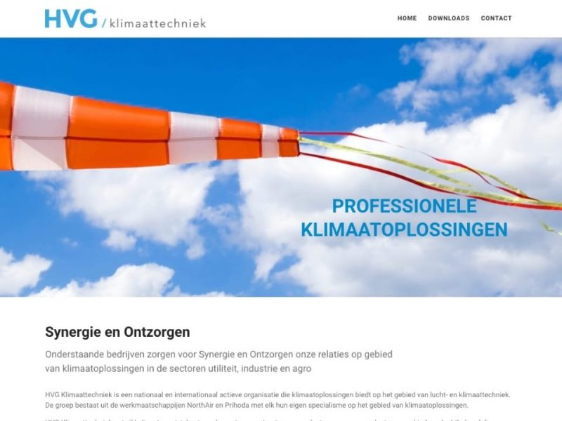 Website HVG Klimaattechniek