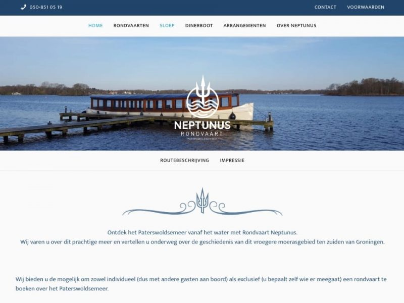 Website Neptunus Rondvaart
