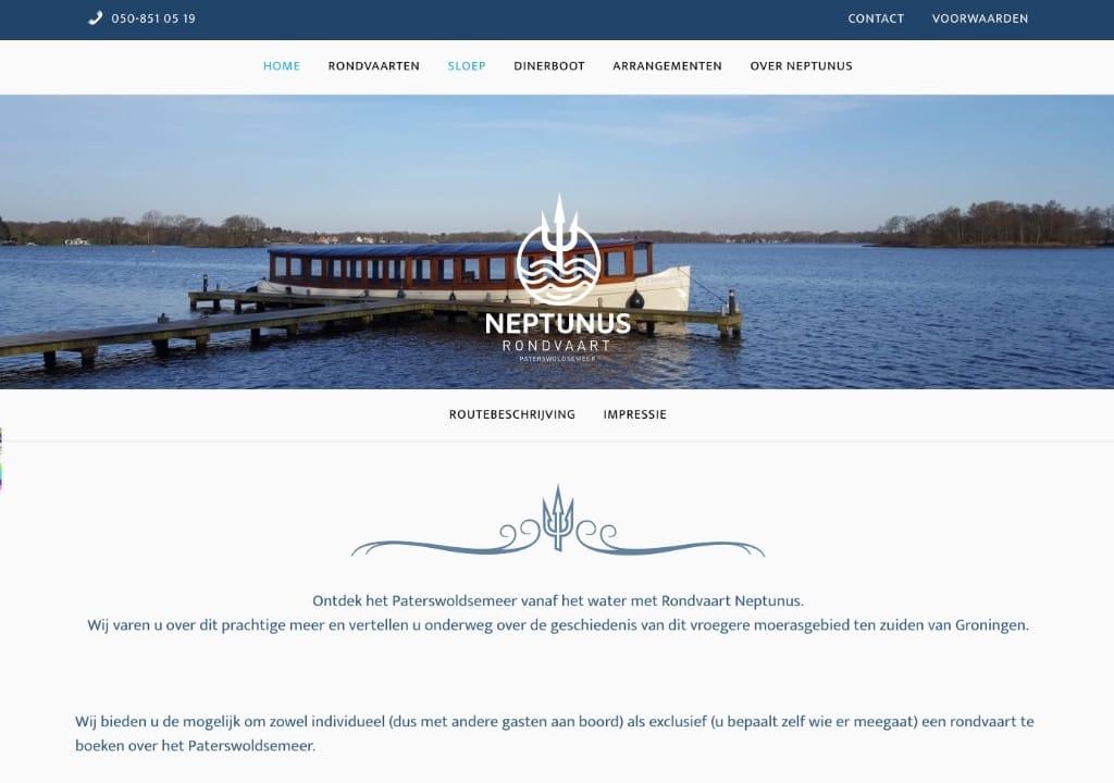 Website Neptunus Rondvaart