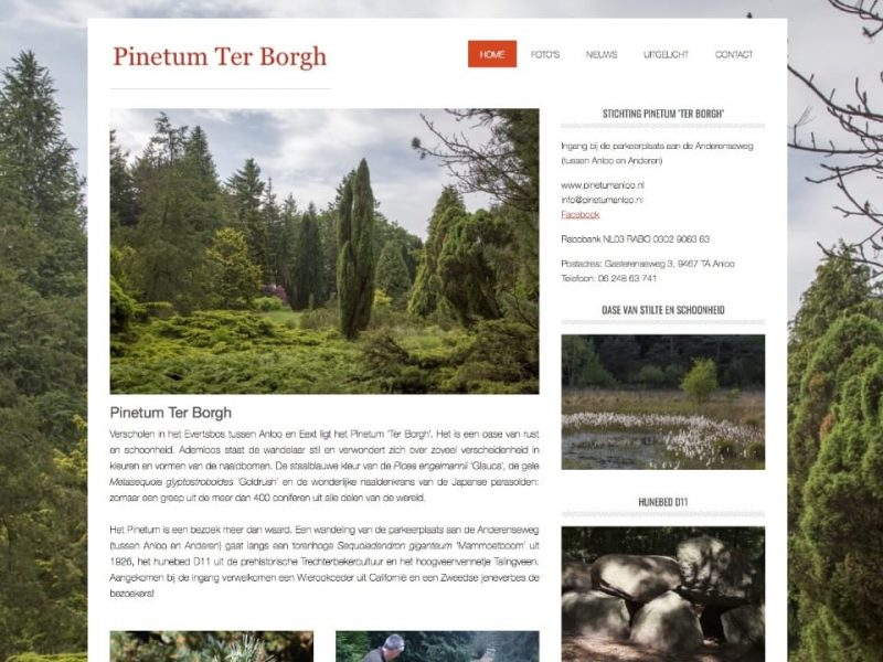 Website Pinetum Anloo