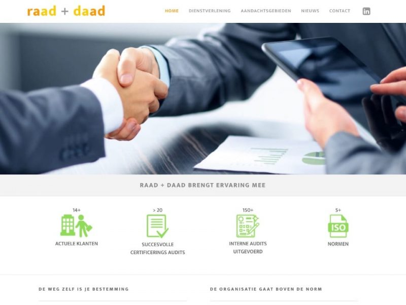 Website raad + daad